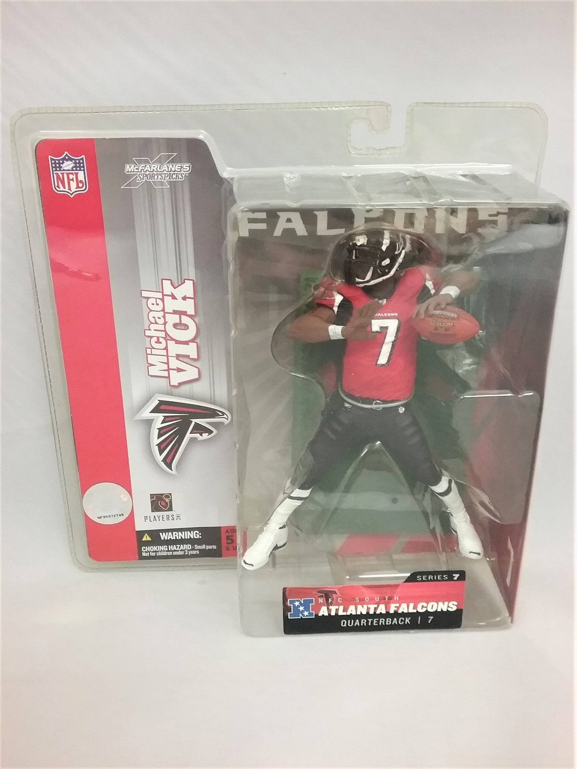 sports shoes 3c6bd fe2c8 2003 Michael Vick Red Jersey Variant McFarlane Figure Atlanta Falcons  Series 7