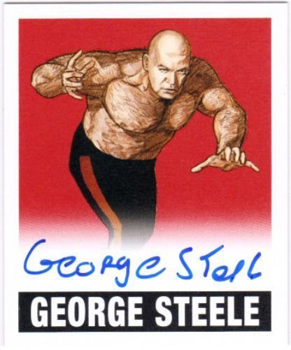 GEORGE STEELE 2012 Leaf Originals Wrestling Alternate Art Red #AGS1 4/5 Auto