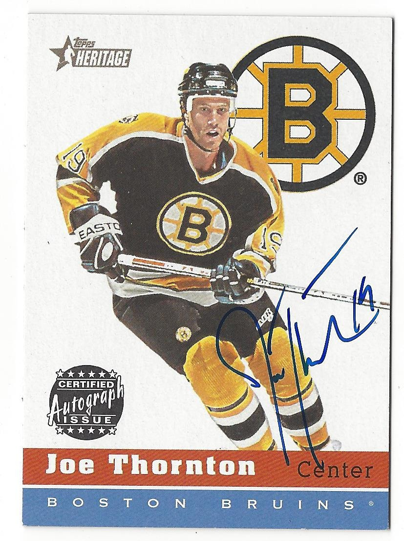 Joe Thornton 2000 01 Topps Heritage On Card Autograph Ha Jt Auto Bruins Sharks