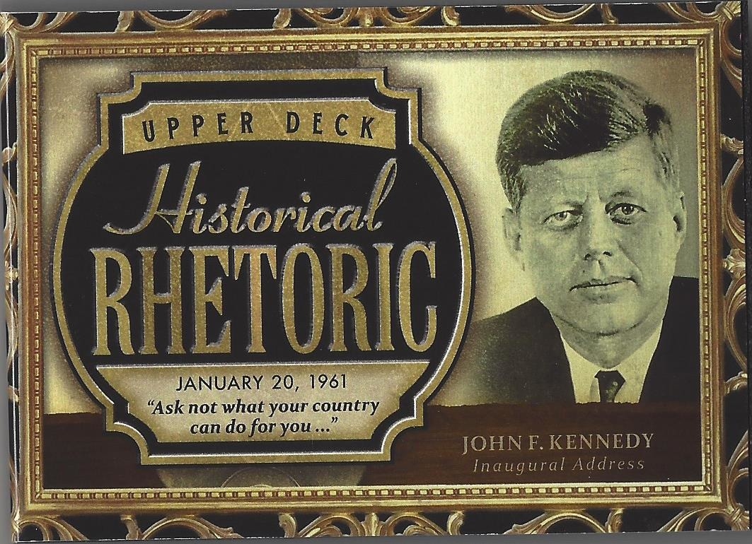 John F Kennedy 2016 UD Goodwin Champions Historical Rhetoric Audio Card #HR-JFK