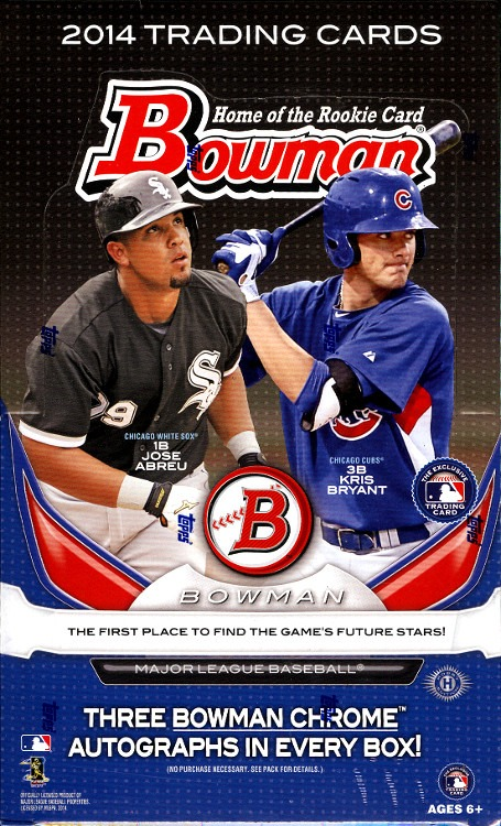 2014 Bowman Baseball Jumbo Hta Box Sealed12 Packs Mookie Betts Kris Bryant