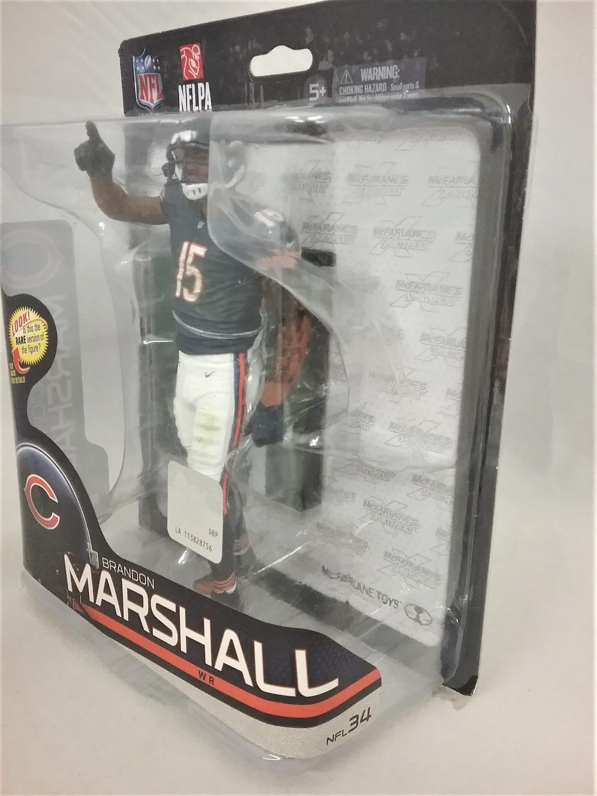 McFarlane NFL Series 34 Chicago Bears Brandon Marshall bleu Jersey