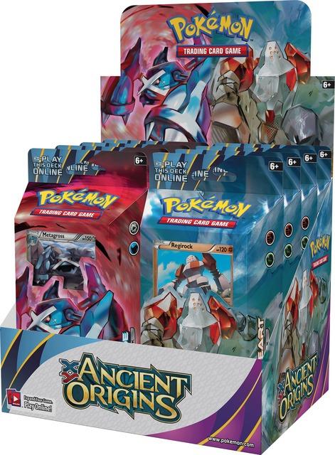 Pokemon XY Ancient Origins Theme 8 Deck Display Box (4-Stone Heart/4-Iron Tide)