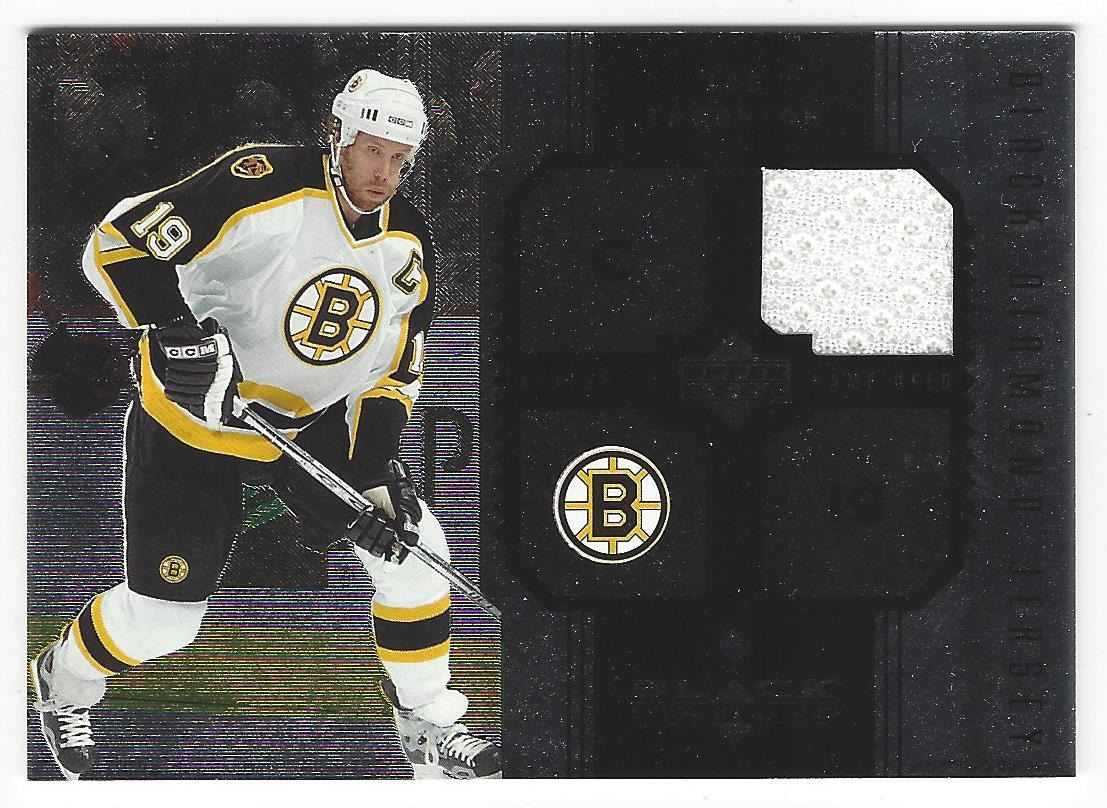 outlet store 4d8a3 67434 Joe Thornton 2005 Black Diamond Boston Bruins Game Used Jersey Card #J-JT