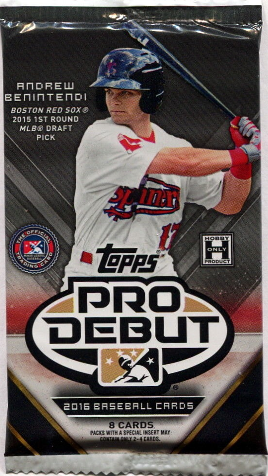 2016 Topps Pro Debut Baseball Hobby 8 Card Pack Sealed Random