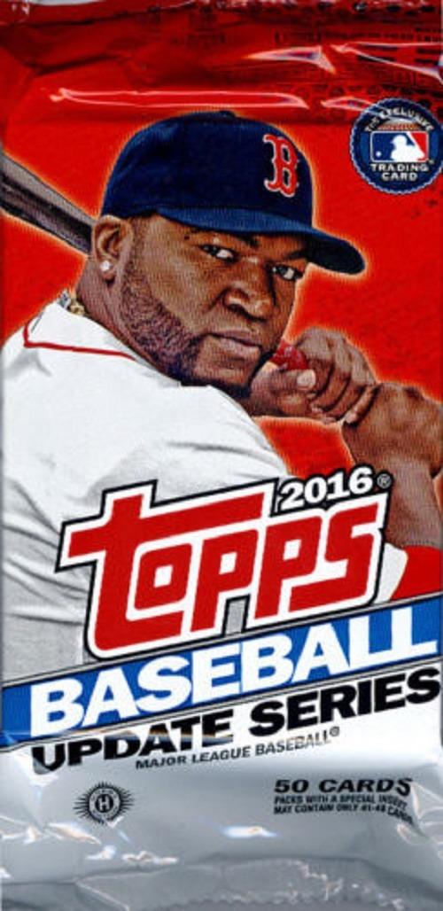 2016 Topps Update Series 3 Baseball Hta Jumbo Hobby 50 Card Pack Sealed Random
