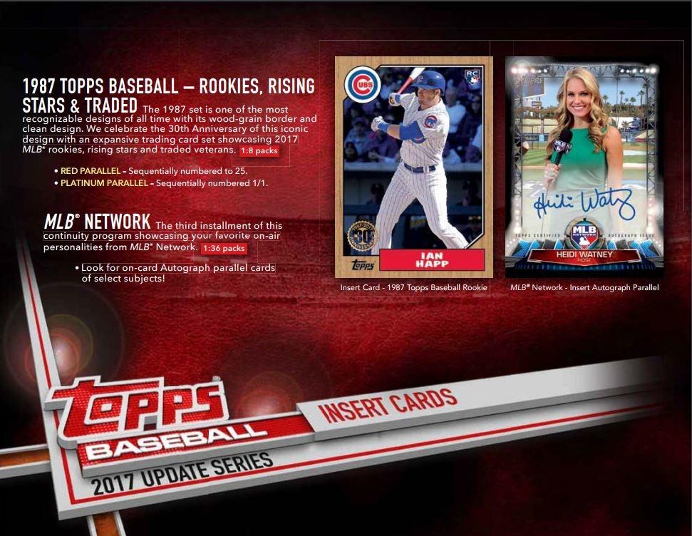 2017 Topps Update Series Baseball Hobby Pack 10 Cards Look 4 Cody Bellinger Rc