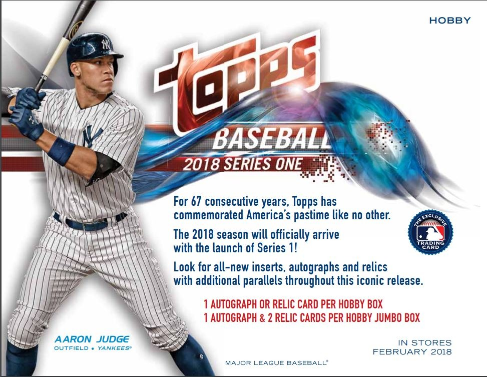 Three 2018 Topps Series 1 Baseball Hobby PACKS Factory Sealed 3 Random