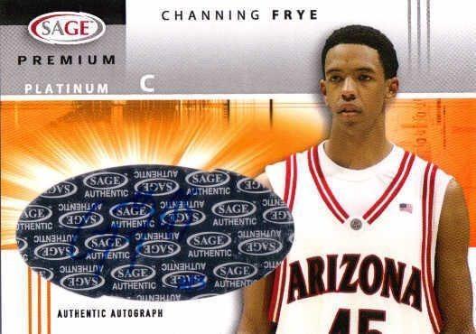 CHANNING FRYE 2005/06 SAGE Premium Platinum Rookie Autograph Card 5/5 Auto