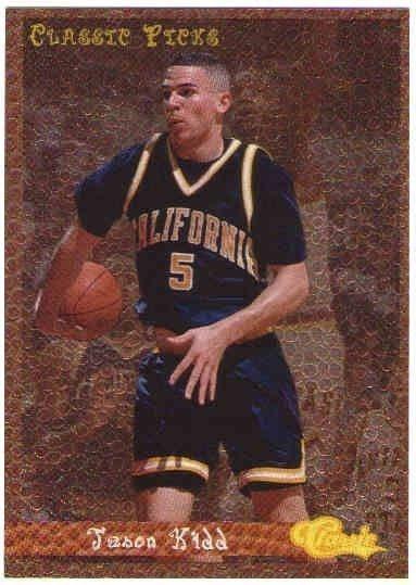 Jason Kidd 1994 95 Classic Rookie Picks Insert Card 9495 1994