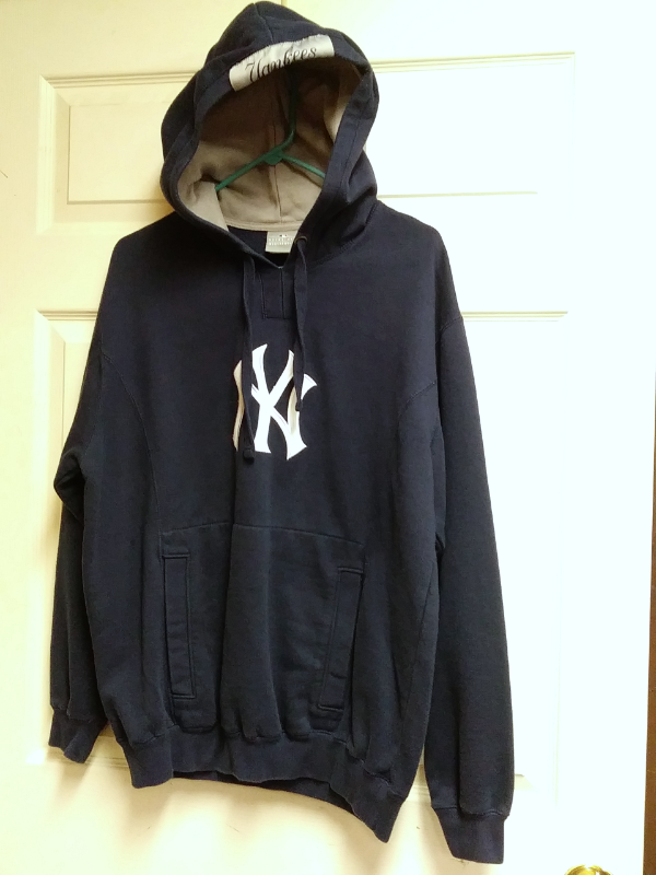 promo code 00e41 9d686 MLB Genuine New York Yankees Navy Blue Pullover Hoodie Jacket Size M  Baseball