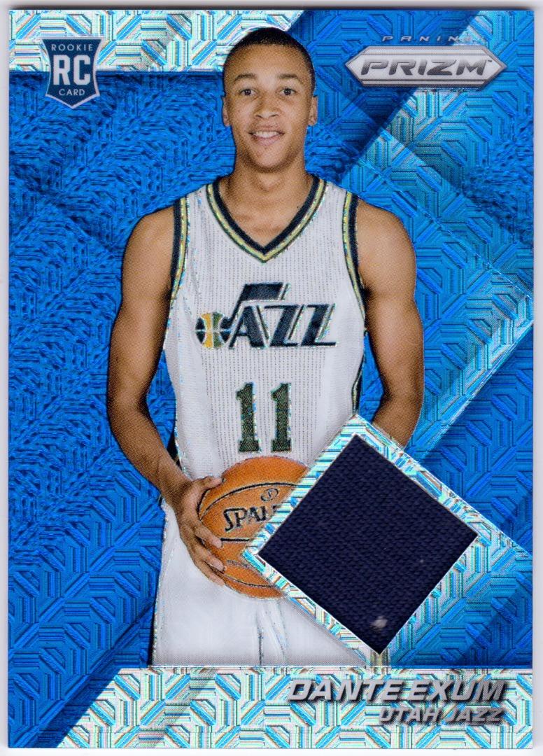 uk availability e43b0 882a5 DANTE EXUM 2014-15 Panini Prizm Blue Mojo Jerseys Relic Rookie Card #70