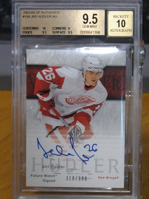 JIRI HUDLER 2003-04 SP Authentic Future Watch Rookie Auto BGS 9.5 Signed Card