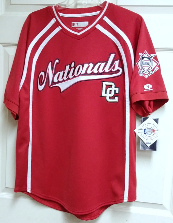 20cee2c508b ... True Fan Washington Nationals Red Embroidered Jersey Shirt Size M MLB  Baseball ...