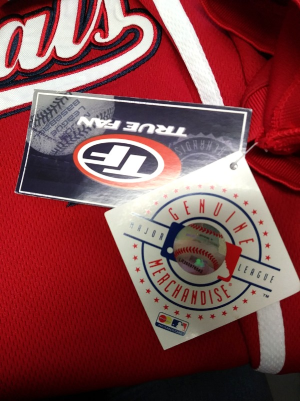 f0c84bf1d10 ... True Fan Washington Nationals Red Embroidered Jersey Shirt Size M MLB  Baseball