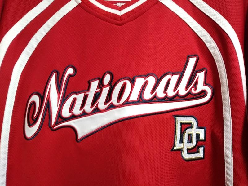 on sale 3edba 44020 True Fan Washington Nationals Red Embroidered Jersey Shirt Size M MLB  Baseball