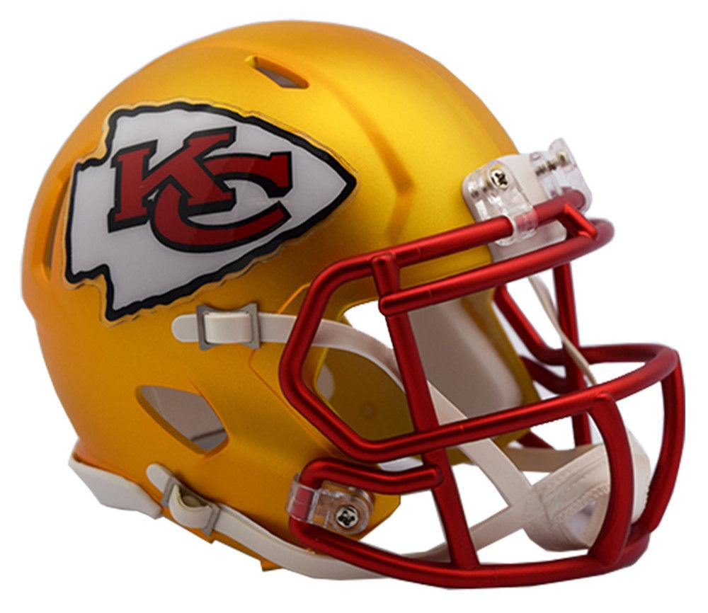 5f826a30 KANSAS CITY CHIEFS 2017 Riddell NFL Blaze Alternate Speed Mini Football  Helmet