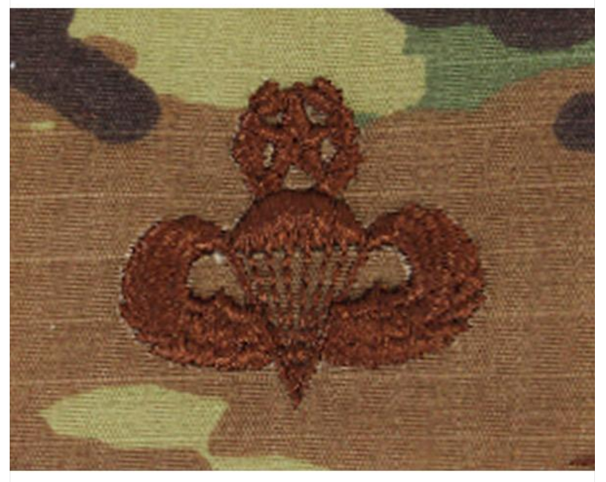 Vanguard AIR FORCE EMBROIDERED BADGE PARACHUTIST MASTER - EMBROIDERED ON OCP