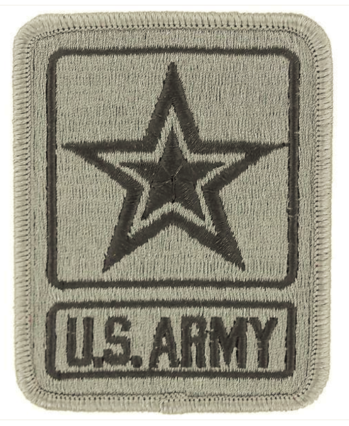 Vanguard ARMY PATCH: US ARMY STAR LOGO - EMBROIDERED ON ACU