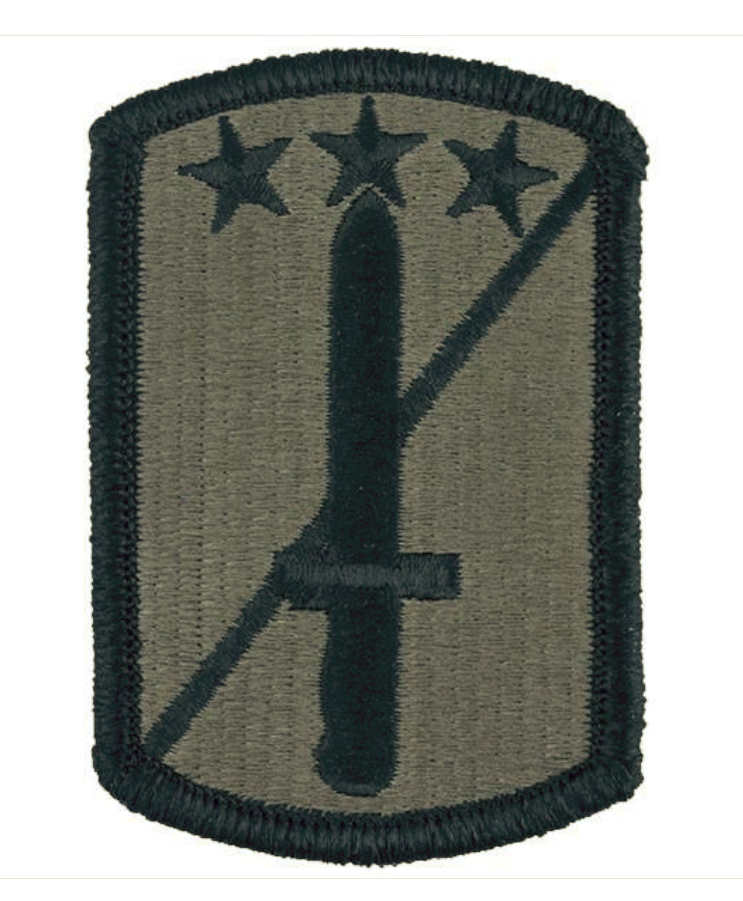Military patch us army 170th infantry brigade class a dress.