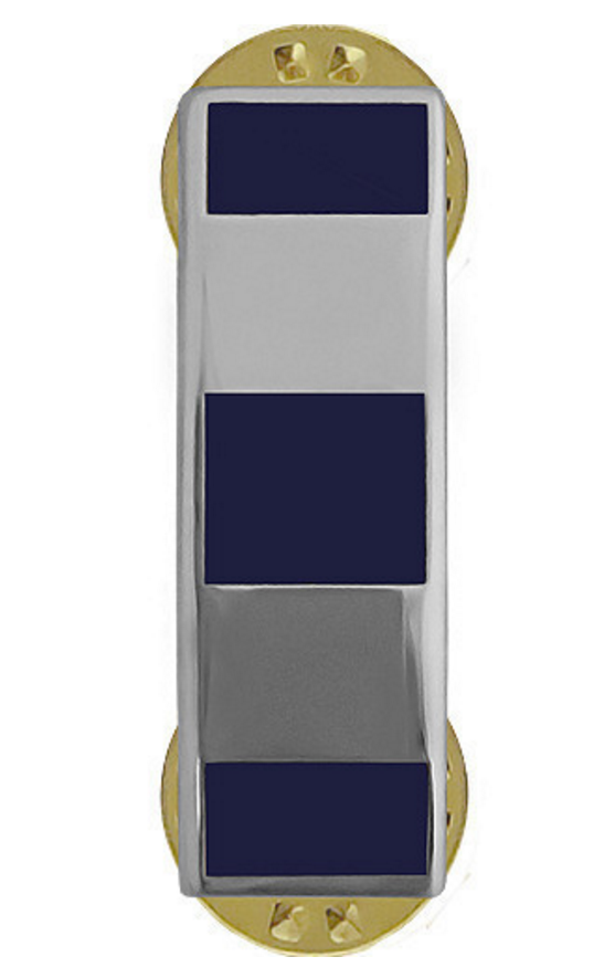 Vanguard Warrant Officer 4 Collar Device Navy USN & Coast Guard USCG WO4 Silver