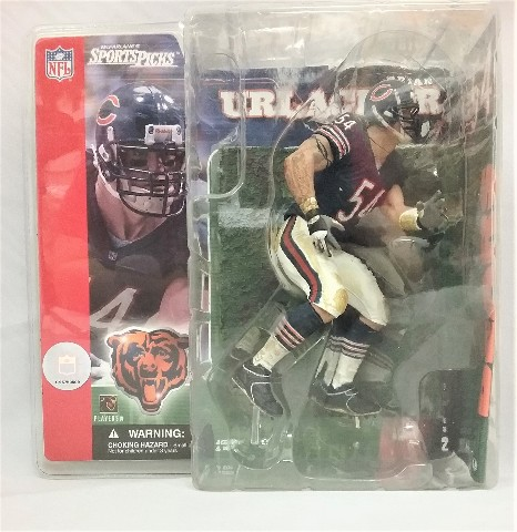 2001 Brian Urlacher McFarlane Sportspicks Figure NFL Chicago Bears Series 2