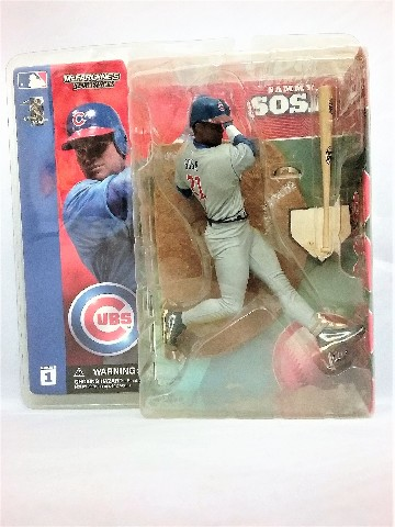 Sammy Sosa Gray Grey Jersey Variant McFarlane Figure Series 1 Chicago Cubs