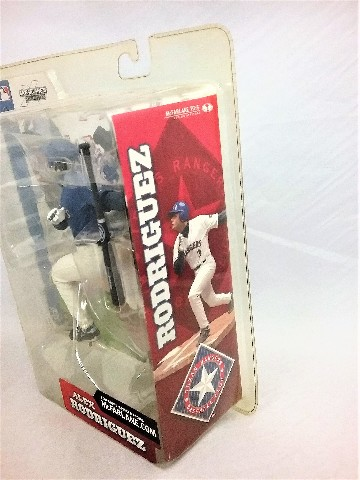 2002 Alex Rodriguez Blue Variant McFarlane's Sportspick Series 2 Texas Rangers MLB Major League Baseball