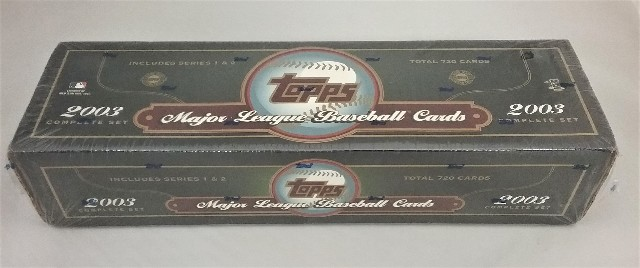 2003 Topps Baseball Green Factory Set Sealed