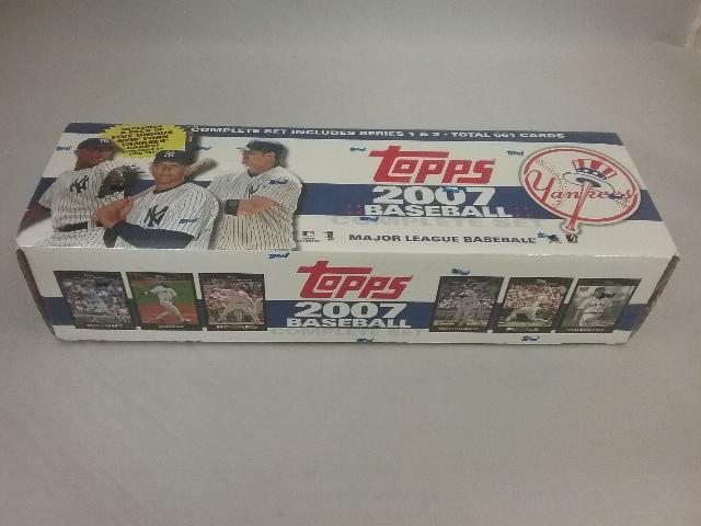 2007 Baseball Yankees Factory Set Sealed