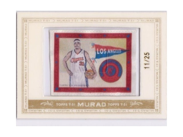RICKY DAVIS 2008-09 Topps T51 Murad 11/25 Framed Mini Silk Card #116 LA Clippers