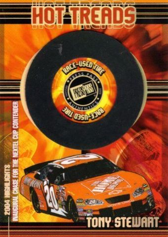 TONY STEWART 2005 Press Pass Hot Treads Race Used Tire Card 21/100 Holofoil