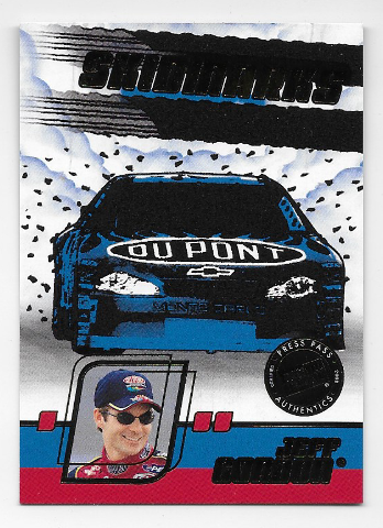 Jeff Gordon NASCAR 2002 Press Pass Eclipse Authentic Tire Skidmarks Rubber #SK4