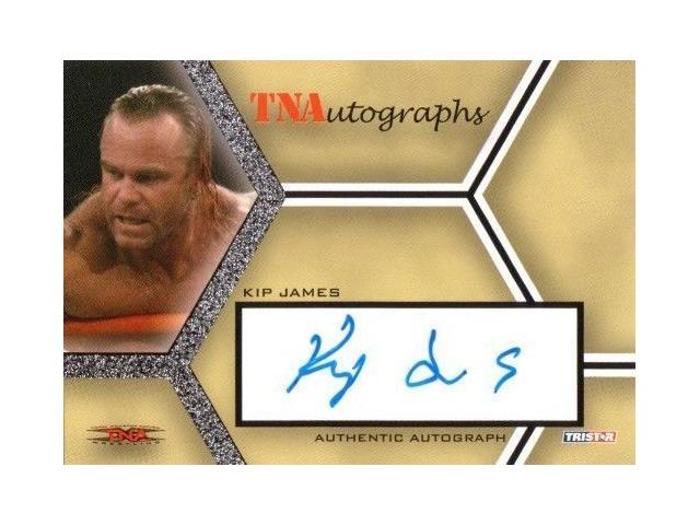 KIP JAMES 2008 TriStar TNA Wrestling Impact Autograph Card Auto