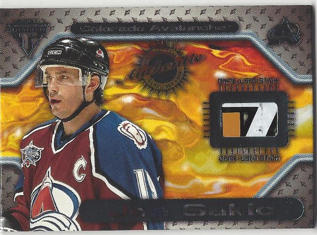 Joe Sakic  2001 Titanium Hockey Game-Used Stick Colorado Avalanche /224