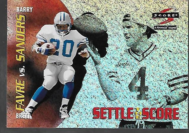 BARRY SANDERS/BRETT FAVRE 1996 Score settle the score /30