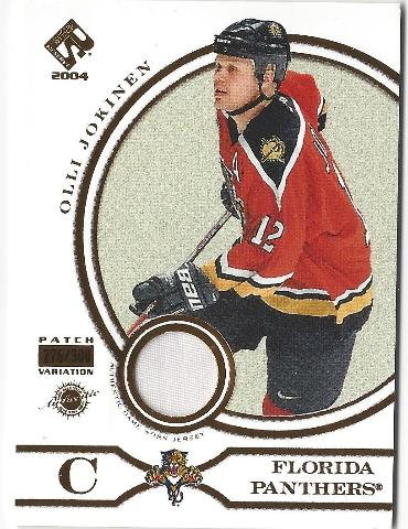 Olli Jokinen2003-04 Private Stock Reserve Game Used Jersey Patch Variation /300