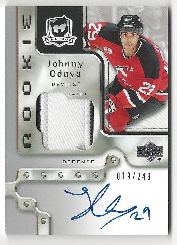Johnny Oduya 2006-07 The Cup On Card Autograph Patch Rookie RC /249 Auto Devils