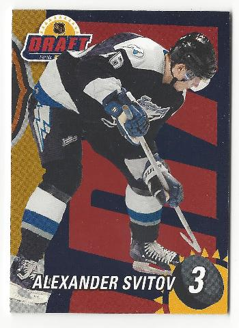 Alexander Svitov 2001-02 Be A Player BAP #3 Draft Redemption /100 Ak Bars Kazan