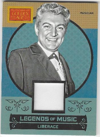 Liberace 2014 Panini Golden Age Legends of Music #2 Memorabilia Card