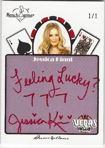 Jessica Kinni Bench Warmer Vegas Baby Autographed Inscriptions Card 1/1
