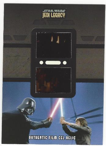 Luke Skywalker and Darth Vader 2013 Star Wars Legacy #DFR-6 Dual  Film Cell