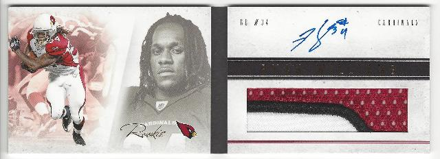 Ryan Williams Arizona Cardinals  Panini Playbook Rookie Autograph Patch RC /49
