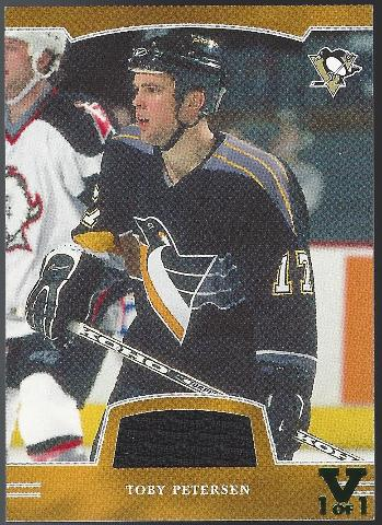 TOBY PETERSEN 2002-03 Be a Player First Edition Vault 1/1 Jersey Penguins BAP
