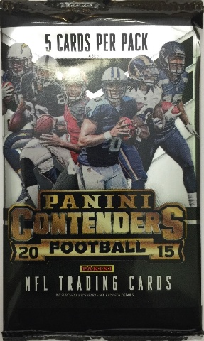 2015 Panini Contenders Football 5 Card Hobby Pack (Sealed)