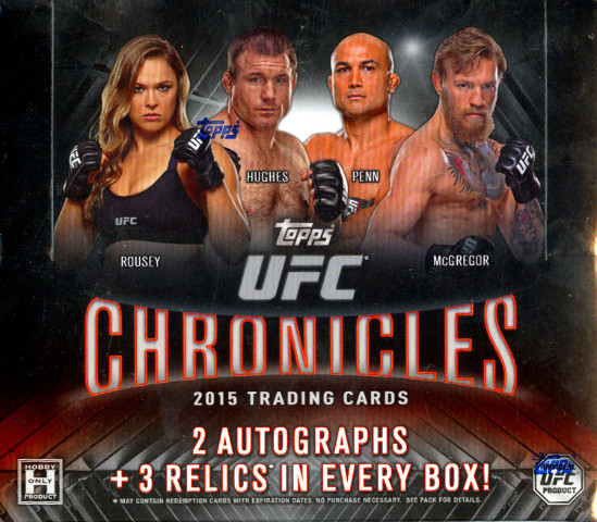 2015 Topps UFC Chronicles Hobby Box (Sealed)