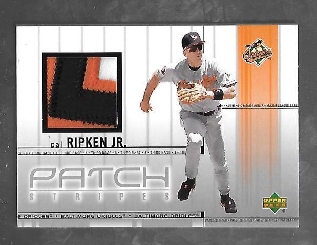 CAL RIPKEN JR 2002 (2001) Upper Deck Patch Stripes 3 color patch #PS-CR Orioles