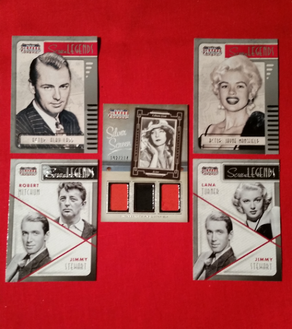 Lillian Gish 2015 Panini Americana Screen Legends 5 Card Lot Stewart Mitchum