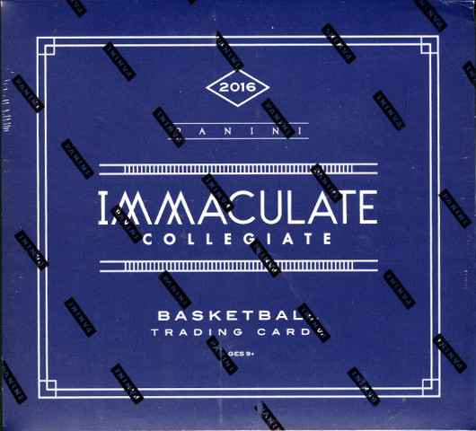 2016/17 Panini Immaculate Collegiate NCAA Basketball 5 Hobby Box Case (Sealed)