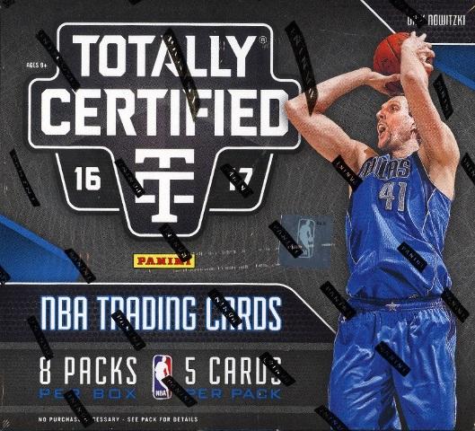 2016/17 Panini Totally Certified Basketball 8 Hobby Box Inner Case (Sealed)